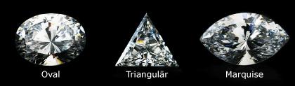 Oval-, Triangulär-, Marquiseslipning