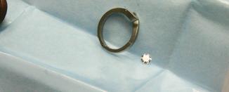 """En obearbetad ring dvs skenan av en ädelstensring - kallas på engelska """"blank""""."""
